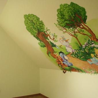 Greitai, nebrangiai ir kokybiškai Jūsų vaiko svajonę paversim realybe. Siūlome platų sieninės tapybos piešinių pasirinkimą ( multiplikuoti vaizdai, pasakų personažai, gyvūnai, sporto ša ...