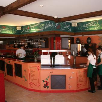 2012., restoranas Basilico, vilnius, Siūlome individualizuoti savo restorano erdves sieninės tapybos elementais. Tapyba ant sienos Jūsų restoranui suteiks gyvumo, jaukumo išskirtinumo. Sieninė ...