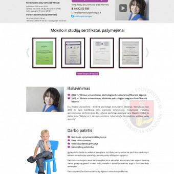 Psichologo konsultacijos internetu arba kliento namuose