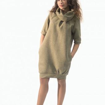 Suknelė (tunika)  Medvilnė, tvirtas, netamprus audinys. Spalva: smėlio.