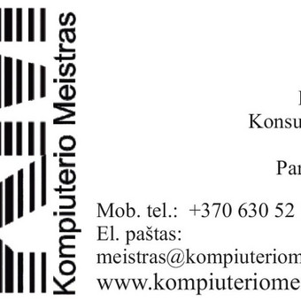 Kompiuterio Meistras Kaune / Nerijus Vedrickas / Darbų pavyzdys ID 37182