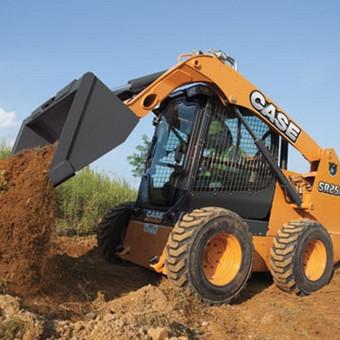 Mini krautuvas (bobcat) (3,5t). CASE SR250; 2013m. Turime ir kitos statybinės technikos.