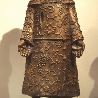 """Bronzinė skulptūra """"Šv. Pranciškus Asyžietis"""", h - 30 cm."""