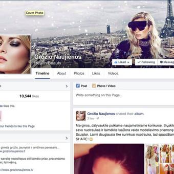 Kosmetikos prekės ženklams skirta Facebook paskyra ir blogas.