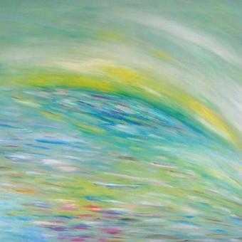 """Aliejiniais dažais ant drobės tapytas paveikslas, pavadinimu - """"Vasara"""", 50x70cm."""