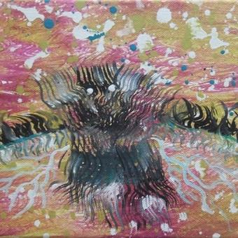 """Aliejiniais dažais ant drobės tapytas paveikslas, pavadinimu - """"Pašvaistės kūrėjas"""", 20x30cm.  Šis paveikslas, taip pat, gali puikiai komponuotis šalia triptiko - """"Pašvaistė"""". sudarydamas ..."""