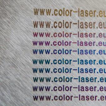 Spalvotas ženklinimas ant nerūdijančio plieno ar titano. Nerealiai nuostabus dekoravimo būdas ir tai mes darome ko gero vieninteliai visame Pabaltijo regione. Mielai bendraujam ir su reklamos age ...