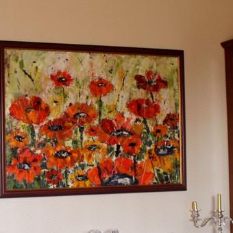 įrėmintas paveikslas. tapytas aliejumi ant drobės 80x100