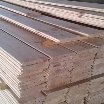 Vidaus dailylentės pagamintos iš Pušies. 13x115x6000 mm - 6 €/m2