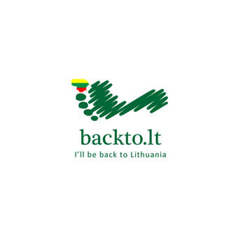 BackToLT - I'll be back to Lithuania,  atgal į Lietuvą   |   Logotipų kūrimas - www.glogo.eu - logo creation.