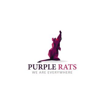 PurpleRats- we are everywhere PARDUODAMAS      Logotipų kūrimas - www.glogo.eu - logo creation.