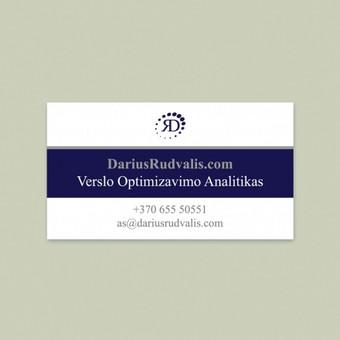 """""""Verslo optimizavimo analitikas. DariusRudvalis.com"""" vizitinė kortelė. © Tatjana Iljina"""