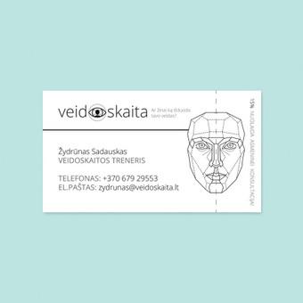 """""""Veidoskaita. Ar žinai ką išduoda tavo veidas?"""" vizitinė kortelė  © Tatjana Iljina"""