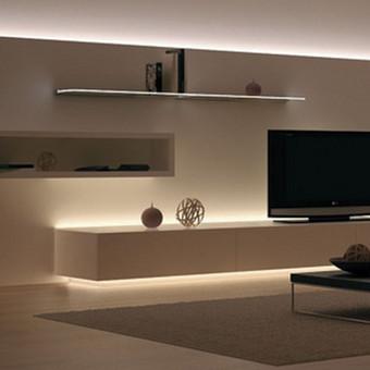 Kaip interjere galima panaudoti LED apšvietimą.