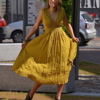lininė suknelė