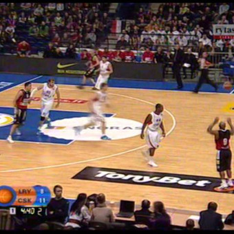 Nike Kobe reklama krepšinio aikštelės LED ekranuose. production: © Wideo.lt