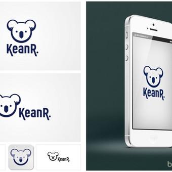 """KeanR"" logotipas."