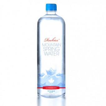 Kanadietiško vandens buteliuko etiketės dizainas