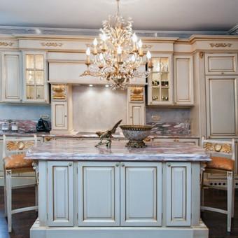 Klasikinės virtuvės interjeras