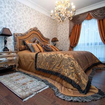 Klasikinio miegamojo interjero dizainas