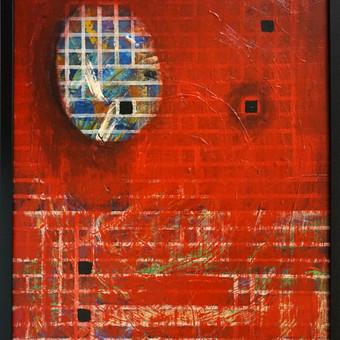 """""""Širdies tuštuma"""" 64 x 47 akrilas, kartonas, įrėmintas Parduodamas"""