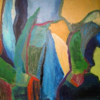 """Sodžius 60 x 80 akrilas, drobė Šį paveikslą galite pamatyti ir įsigyti """"Parko galerijoje"""" Valančiaus g. 6, Kaunas"""