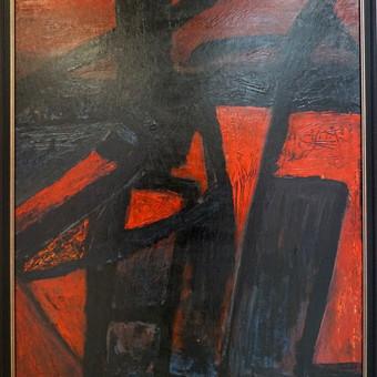 ,, Manitra ,, 100 x 70 kartonas, akrilas, įrėmintas. Parduodamas