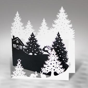 Kalėdinių atvirukų gamyba