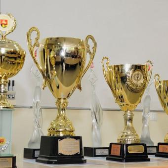 Sporto taurės ir medaliai