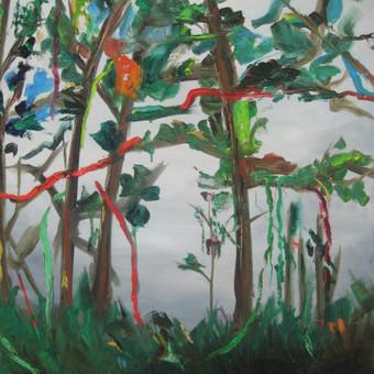 Peizažas I 80 x 60 Aliejus, drobė parduotas