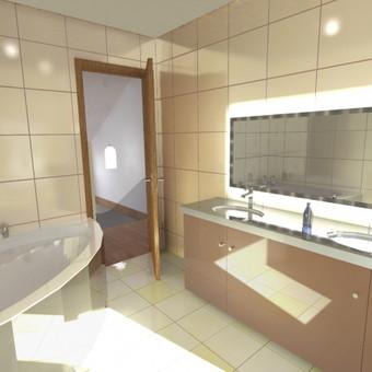 Buto interjero projektas 3. Vonios erdvė.
