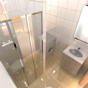 Buto interjero projektas 2. Vonios kambario sprendiniai.