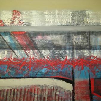 Abstrakcija 70 x 100 drobė, akrilas parduotas