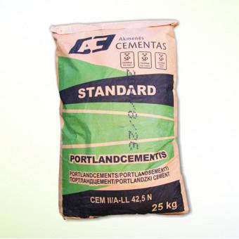 Cemento pakuotė