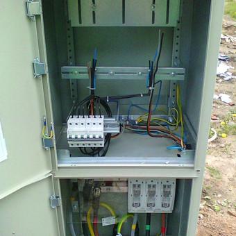 Elektros įvado dvibučiam gyvenamam namui montavimas naujų vartotojų prijungimui prie elektros tinklo Tarandėjė, Vilnius.
