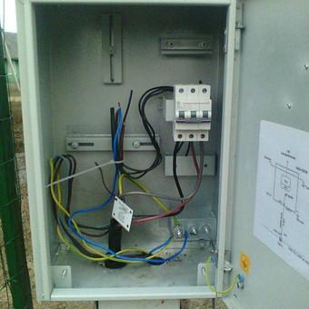 Elektros įvado sodo nameliui montavimas naujo vartotojo prijungimui prie elektros tinklų Brinkiškių k., S/B Žaluma, Vilniaus r.