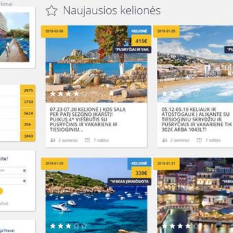 Pigių kelionių platformos dizaino keitimo darbai ir SEO optimizavimo darbai
