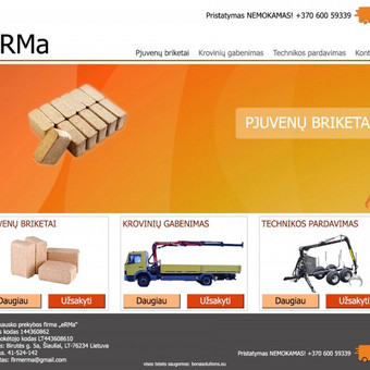 Internetinių svetainių kūrimas Vilniuje / Bona Solutions / Darbų pavyzdys ID 56905