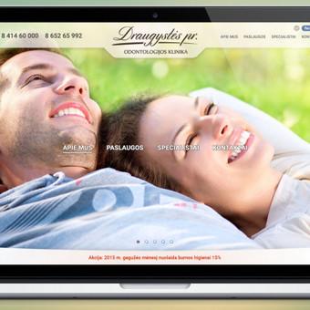 www.draugystes.lt Draugystės pr. odontologijos klinikos tinklapio dizainas