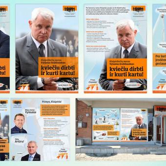 Reklaminės kampanijos kūrimas ir dizainas Klaipėdos liberalų skyriui savivaldybių tarybų rinkimams 2015 m. Užduotis buvo sukurti įdomią, pritraukiančią ir vizualiai patrauklią reklaminę  ...
