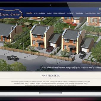 www.bajorulankos.lt tinklapio dizainas