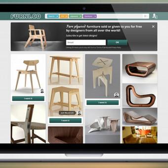 www.furni.co tinklapio dizainas ir logotipas