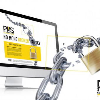 Svetainės dizainas + logotipas Užsakovas: Private and Secure Communications OÜ (Estija)