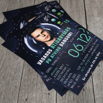 One More Night With Justin Beat Flyer - Vasaros sezono atidarymas