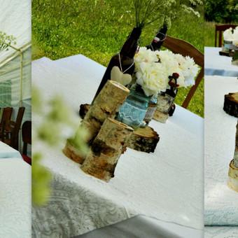 Bijūninio gimtadienio stalo dekoras :)