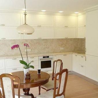 Virtuvė frezuotais, dažytais MDF  fasadais