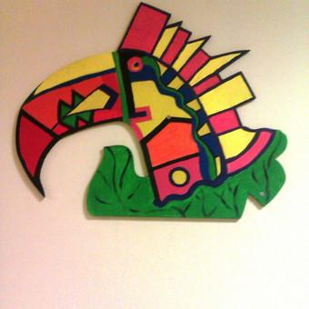 Akrilas, tapyba ant sienos.