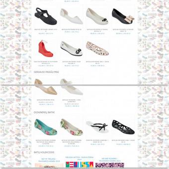 Oficialaus Melissa batų atstovo Baltijos šalyse ir Lenkijoje elektroninės parduotuvės Melissima.lt ir Melissima.pl. Atliktas darbas - elektroninės prekybos verslo modelio paruošimas, asortiment ...