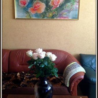 """Silko paveikslas """"Rozes"""" - vestuvine dovana pagal uzsakyma Mamai - PARDUOTA"""