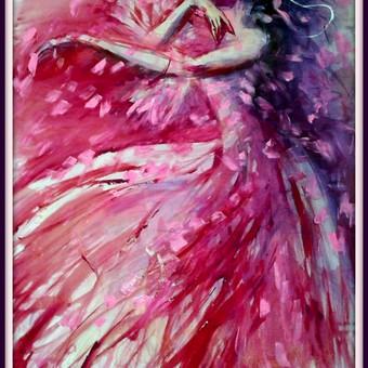 """Silko paveikslas """"Grakstumas"""" - PARDUOTAS Majamio meno kolekcionieriui"""